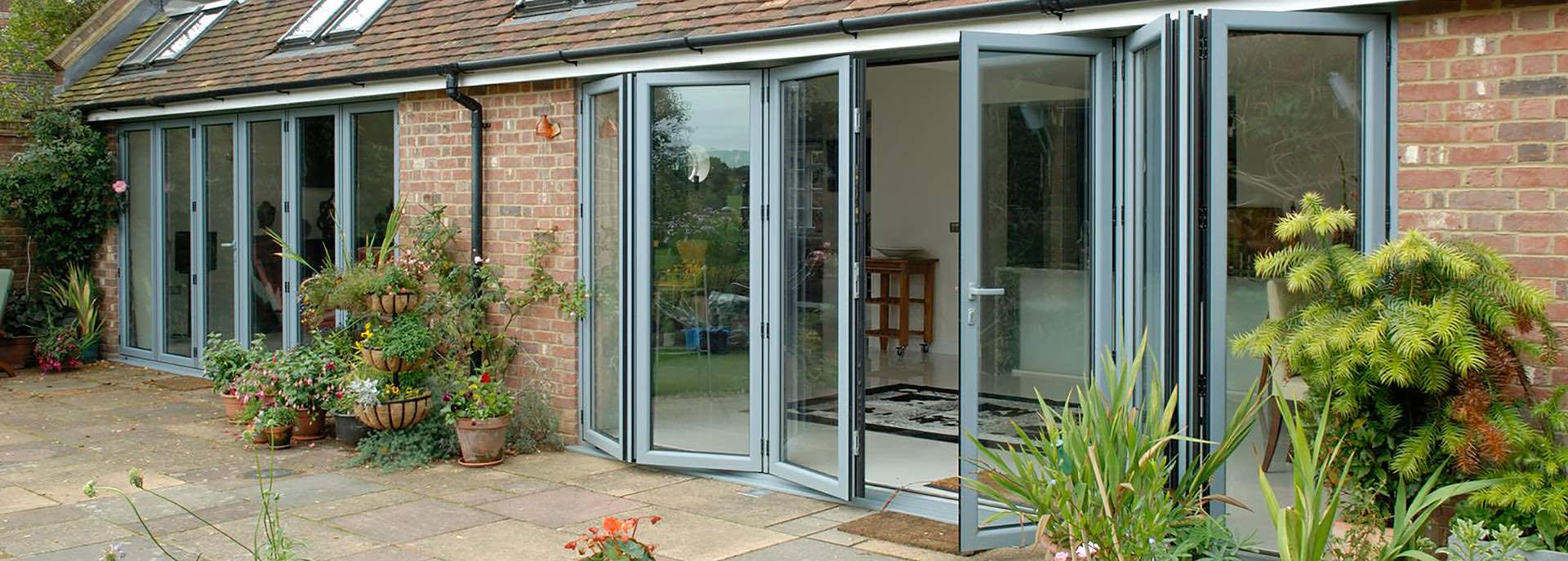 aluminium bi-fold doors Romsey southampton