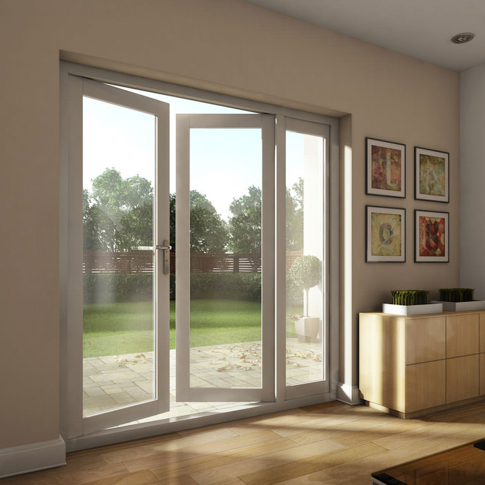 Double glazing lowes bi fold door/Accordion aluminum glass